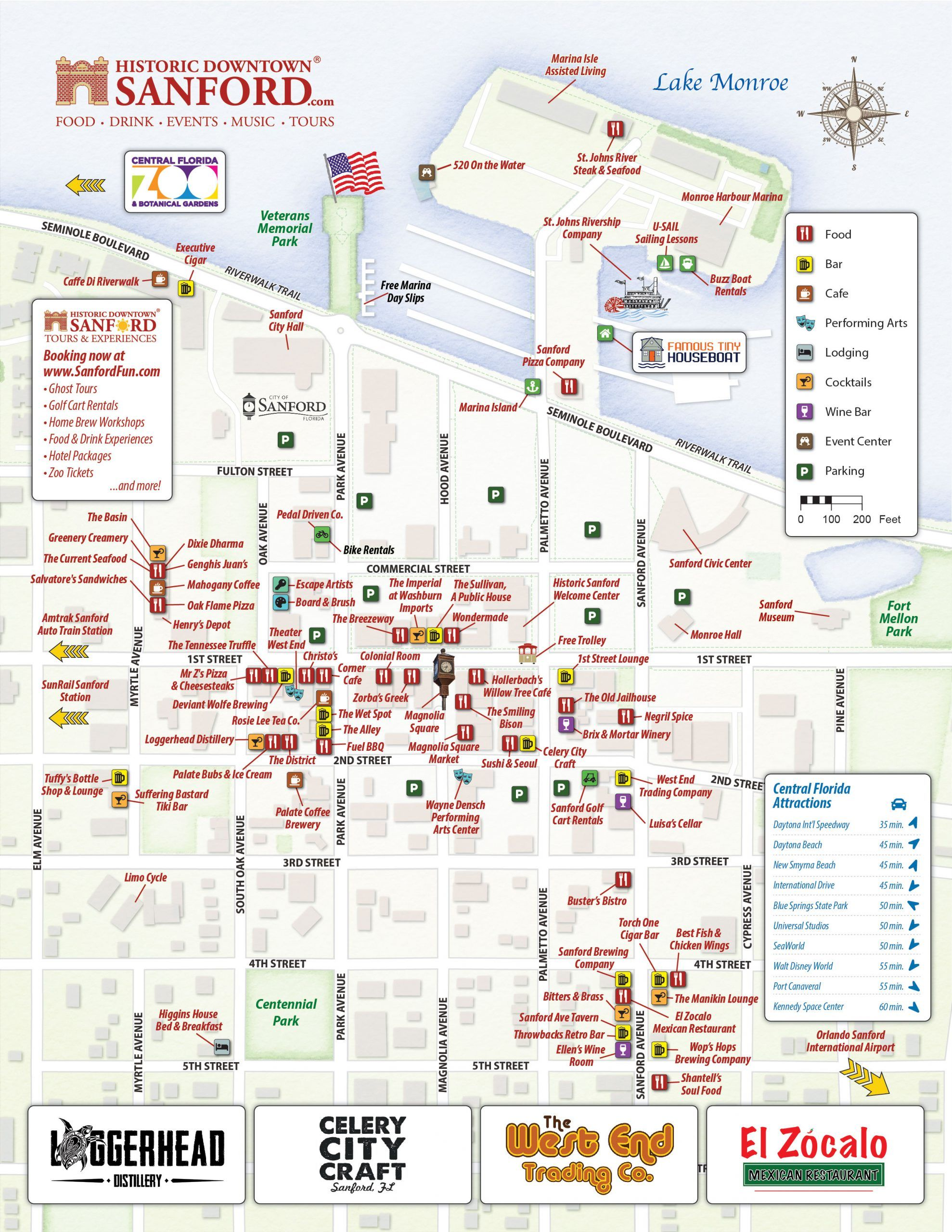Parking Map of Sanford, FL