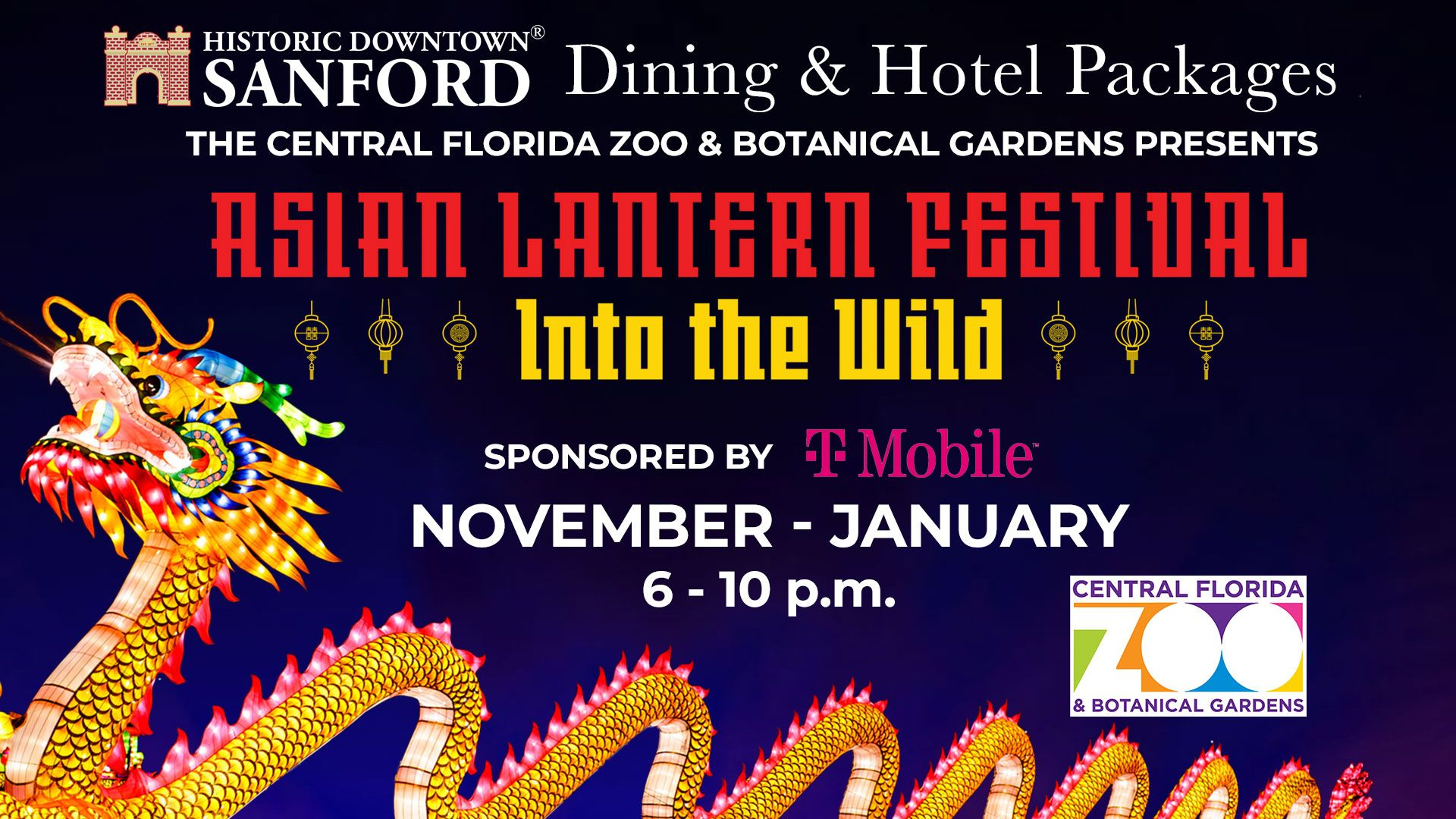 Asian Lantern Festival Dining & Hotel Packages - Sanford Zoo